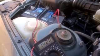 Напряжение на клеммах АКБ (после замены регулятора напряжения)