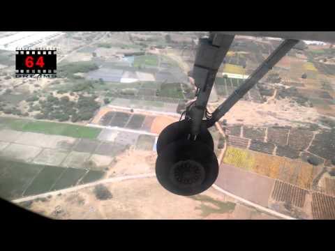 amazing flight landing    HYDERABAD AIRPORT   