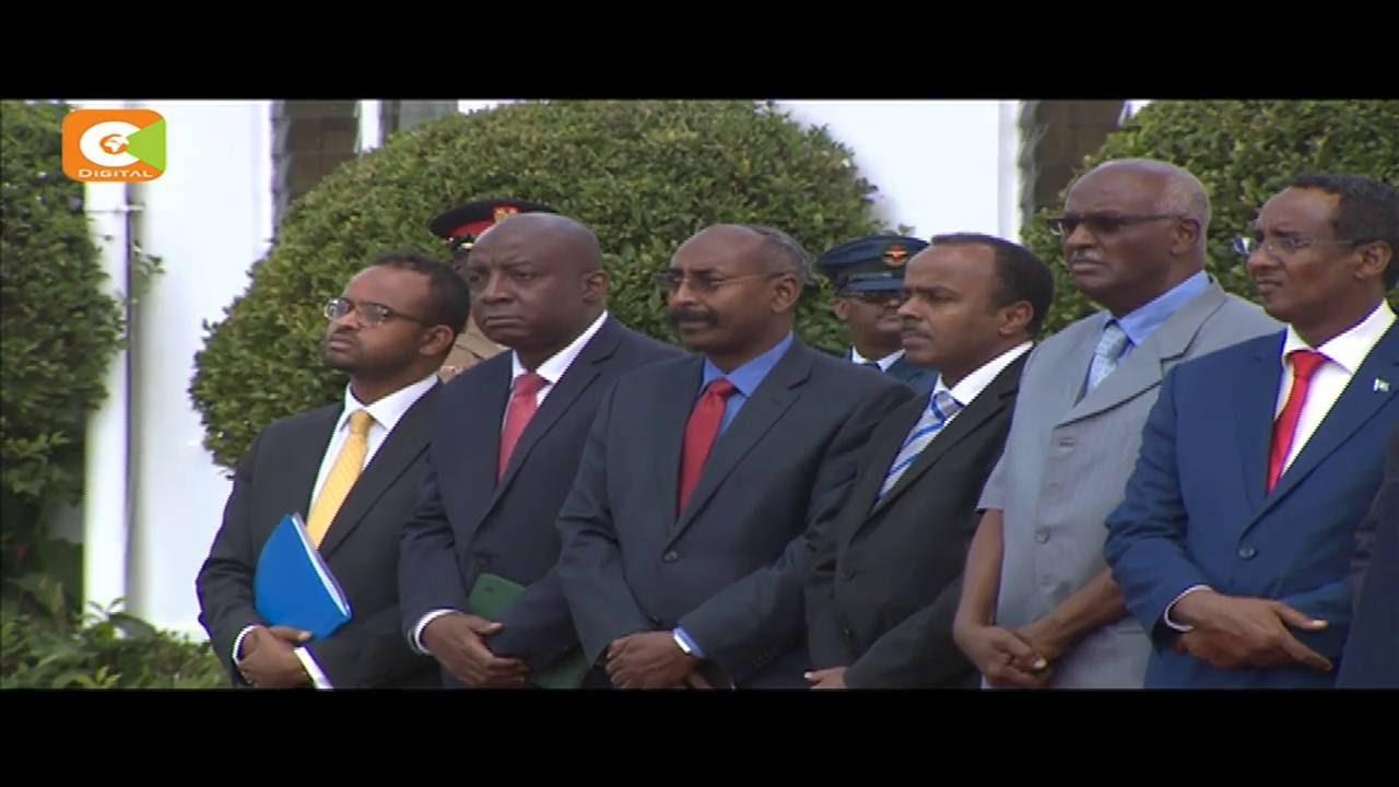 President Kenyatta, Somalia President Mohamud hold talks on Dadaab