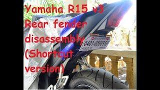 Yamaha R15 v3 Rear fender disassembly (Shortcut version)