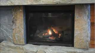 Stone Fireplace Hearth And Mantel
