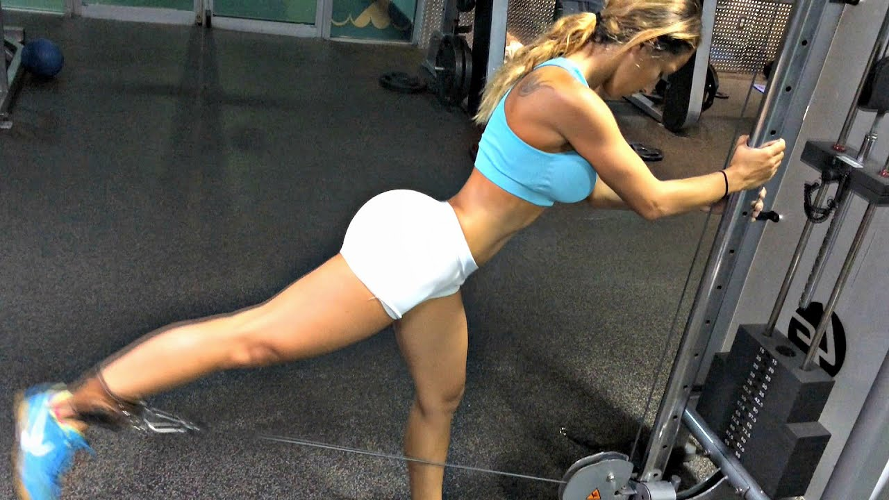 Bikini work out video