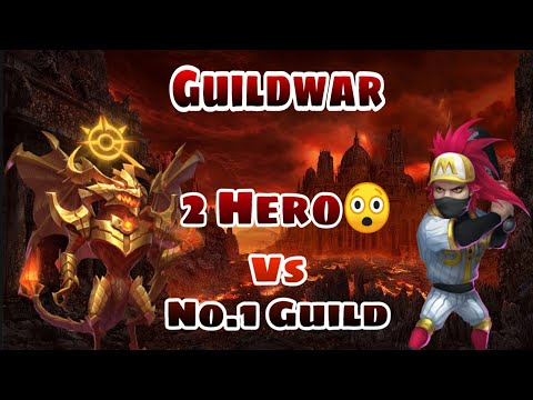 Guildwar | 2 Man War 😎😎😲 | Vs No.1 And No.2 Guild | Zephrica And Ronin | Castle Clash