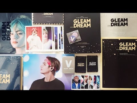 UNBOXING - GLEAM IN YOUR DREAM BY NUNA V | BTS V PHOTOBOOK