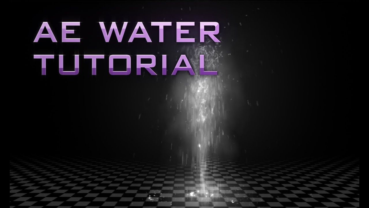 After Effects Tutorial: Animated Water - Trapcode Particular