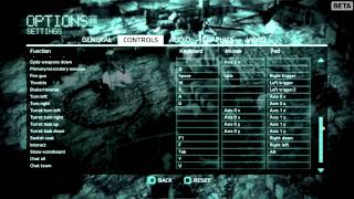 Medal of Honor beta: Controls and Settings.