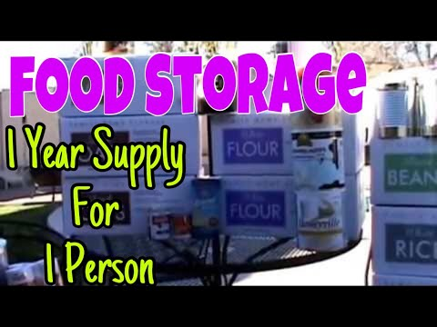 FOOD STORAGE: 1 year supply for 1 person!