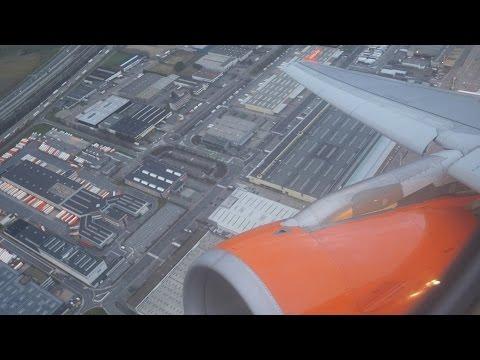 (4K) EasyJet Airbus A319 Flight Video, Brussels To Gatwick - U28522