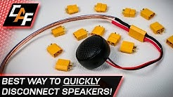 Quick Disconnect Speaker Wires! BEST Connector - CarAudioFabrication