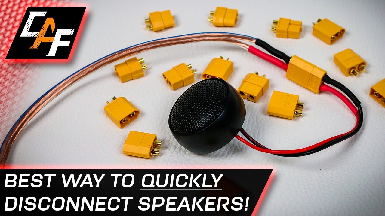 medium resolution of quick disconnect speaker wires best connector caraudiofabrication youtube