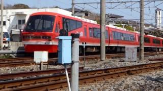 伊豆高原駅に到着する伊豆急行線、2100系「Izukyu KINME Train」 thumbnail