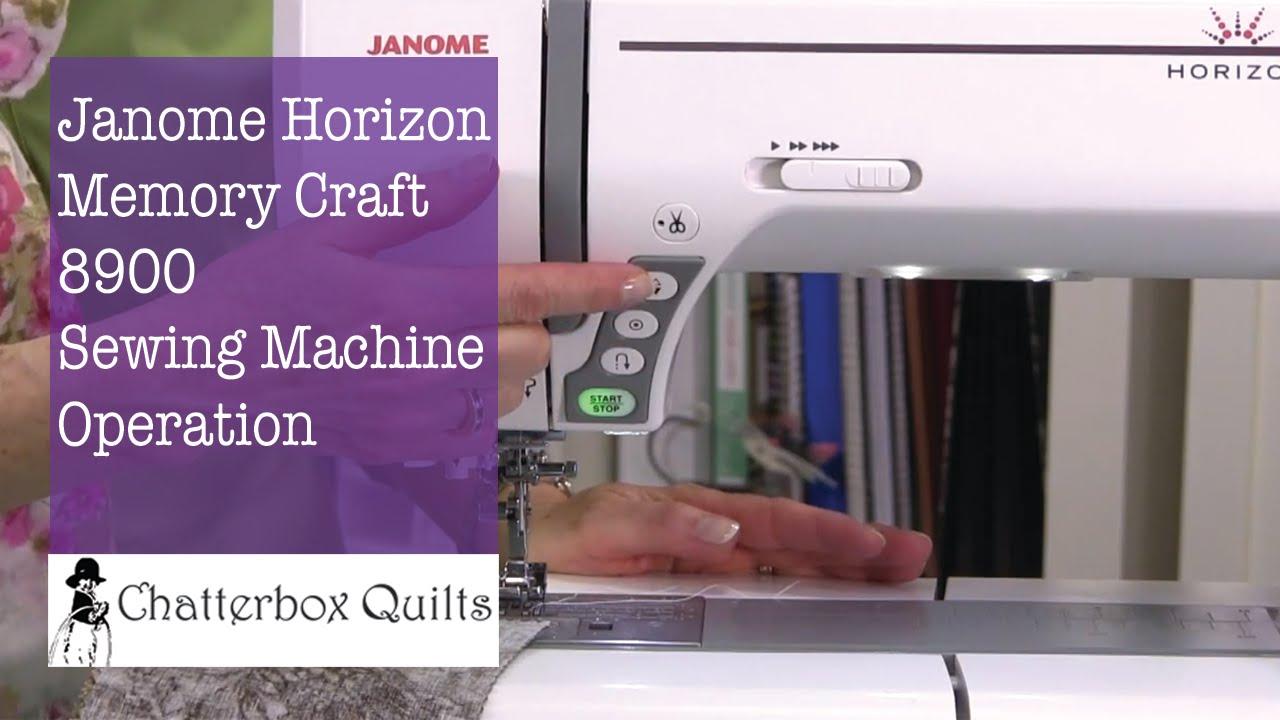 Janome horizon memory craft 8900 - Janome Horizon Memory Craft 8900 5