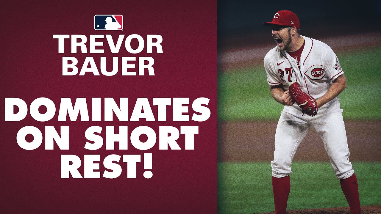 Trevor Bauer DOMINATES (8 IP, 1 R, 12 Ks) on 3 days rest to keep Reds alive! NL Cy Young?