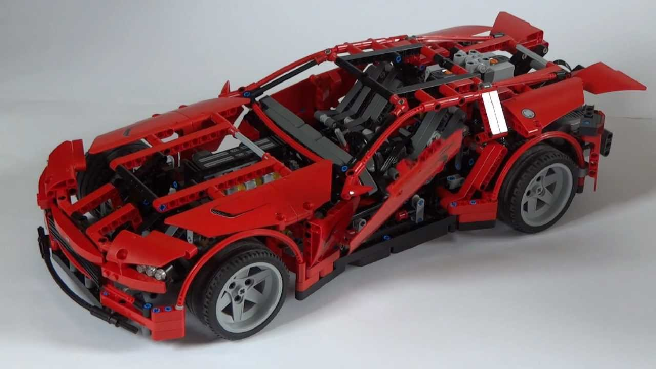 lego technic 8070 motorized super car extra power functions youtube