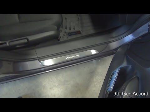 Revew and install of OEM door sill trim on 9th Gen Honda Accord 2015, 2014, 2013