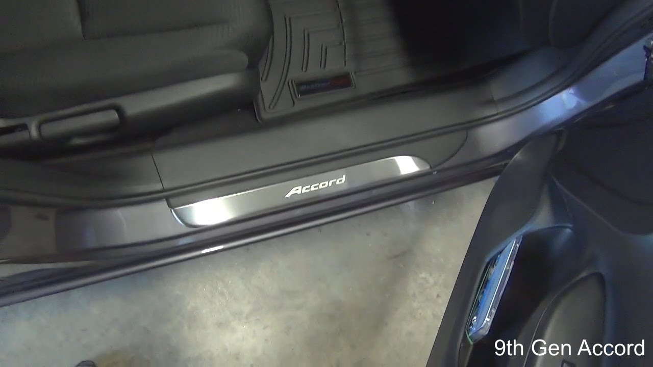 9Th Gen Accord >> Revew and install of OEM door sill trim on 9th Gen Honda ...