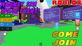 🔴🧲🚀 Roblox Magnet Simulator Space Event Live Countdown!| HAUSTIER GIVEAWAY | Roblox Live-Stream🔴