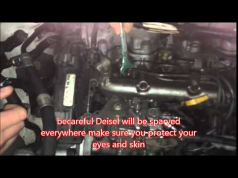 how to bleed diesel fuel injector in 2 minutes !