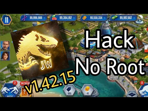 How To Hack Jurassic World The Game ( Still Works At V1.42.15!!No Root) Easy Hack!!