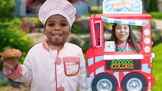 GOO GOO MOM PRETEND PLAY WITH FOOD COOKING TRUCK TOY!