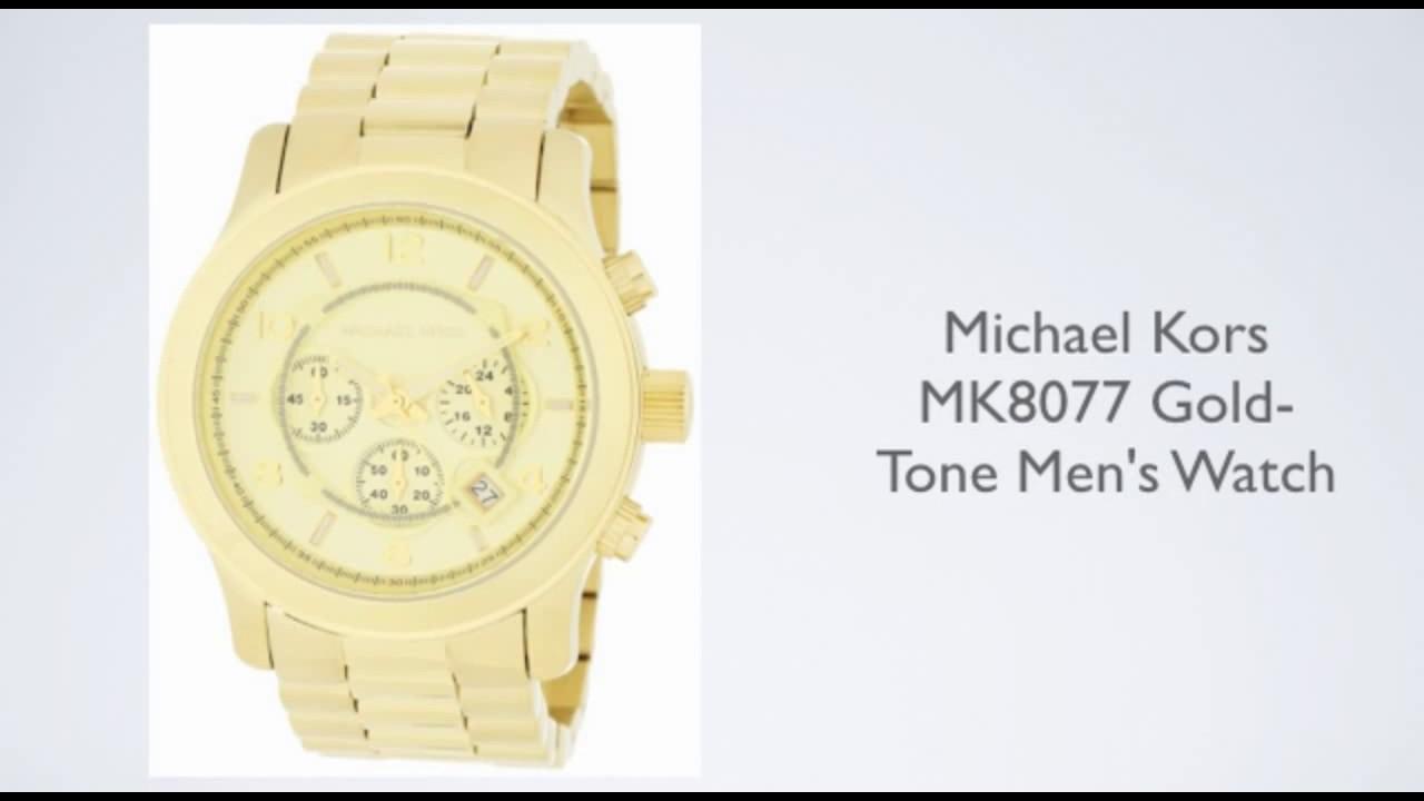 a396c063b7ff Michael Kors Mens Runway Chronograph Watch MK8077 Review - YouTube
