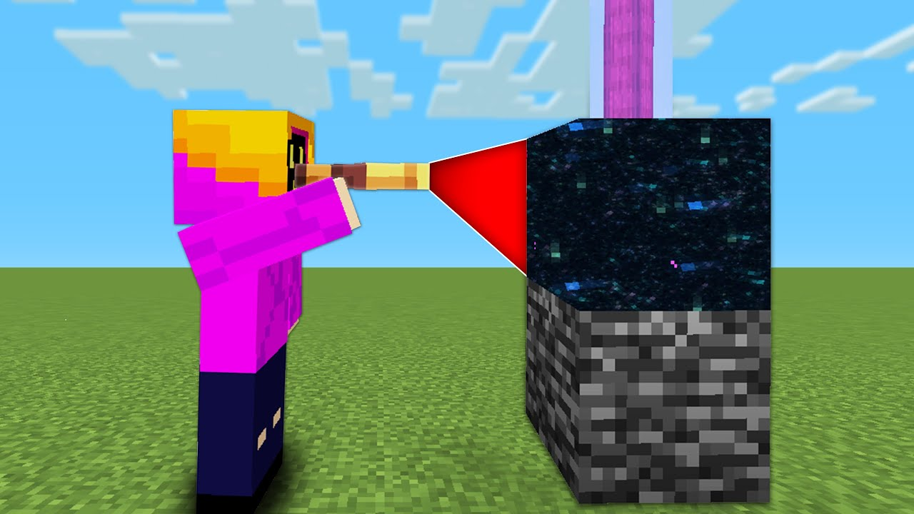 Minecraft, But The Spyglass Randomizes Any Blocks You Look At...