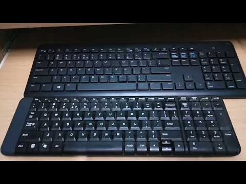 Logitech K220 Vs Dell KM117 Size Comparison