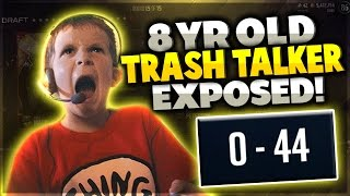 8 YEAR OLD TRASH TALKER EXPOSED!! HE ONLY PLAYS MADDEN!! Madden 17 Draft Champions