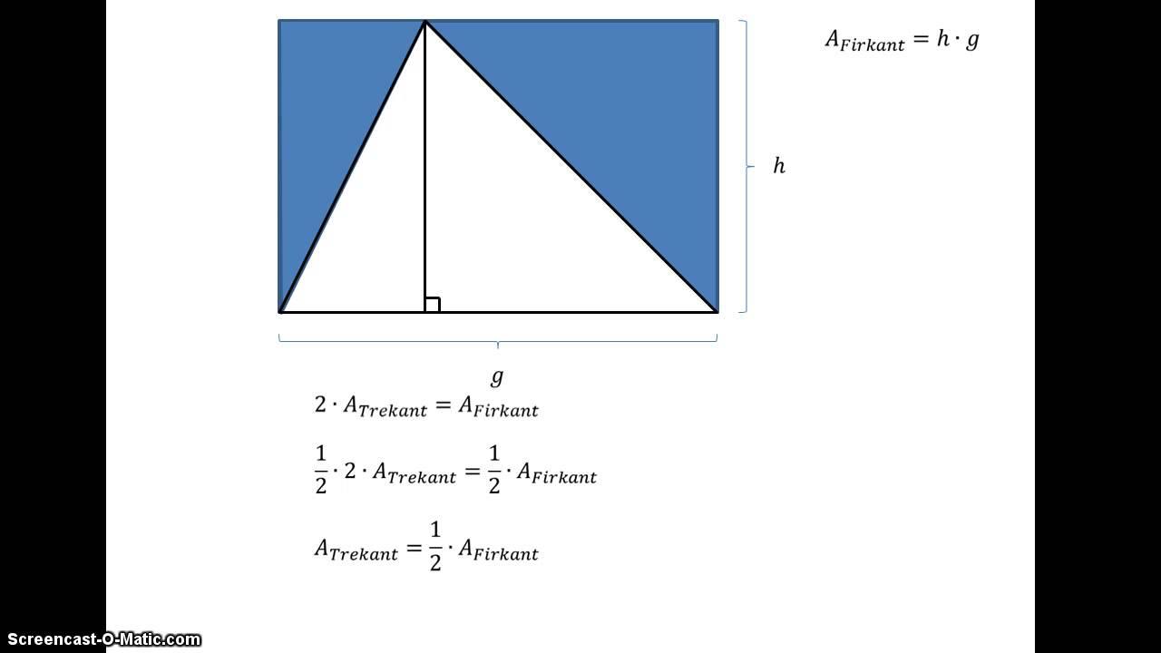 Bevis for areal af trekant