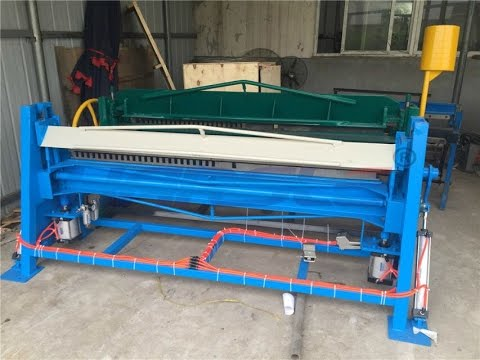 pneumatic folding machine for small thickness metal sheet
