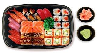 Видео приготовление суши роллы