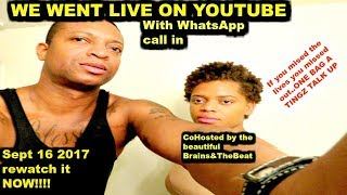 Souflotv And Brains&thebeat Live with Whatsapp call in  Sept 16, 2017