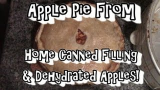 Apple Pie !!! From Home Canned Filling & Dehydrated Apples