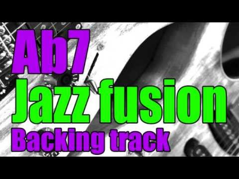 Jazz fusion guitar backing track in Ab7 - Play-along - Jam track