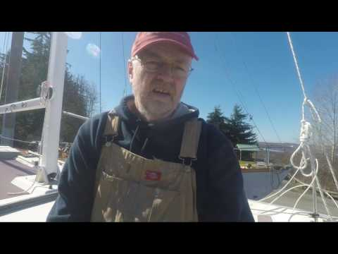 Little Bear Westsail 32 refit: Bowsprit Platform On! Vlog #132