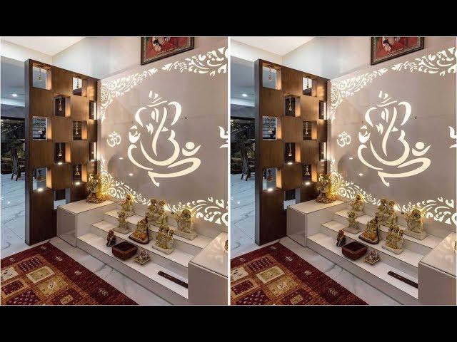 Latest Pooja Room Designs Indian Pooja Room Ideas Puja Room Decoration 2019 2020 Youtube