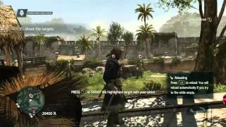 Pistol Weapons Training and Auto shooting Gameplay 1080p HD Assassins Creed 4 Black Flag