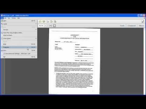 How to save a scanned picture as a pdf file