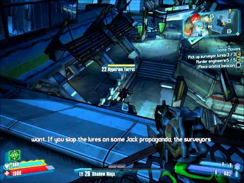 Let's Play Borderlands 2 blind -- Home Movies (078 -- Playing With Moxxi's Camera)