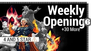 weekly crystal opening special 4 and 5 star 30 more   mcoc