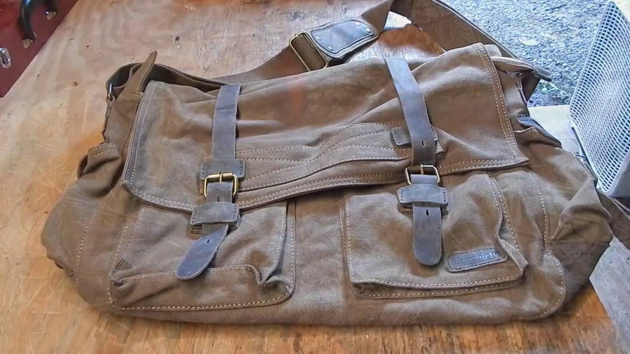 Berchirly Vintage Military Men Canvas Messenger Bag X-Large - YouTube b55f4413435
