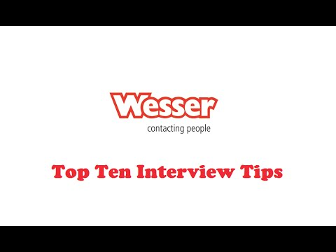 top ten interview tips