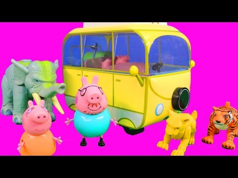 Peppa Pig Campervan Playset Goes Camping with Mummy and Daddy Pig Tell Stories Nick Jr.