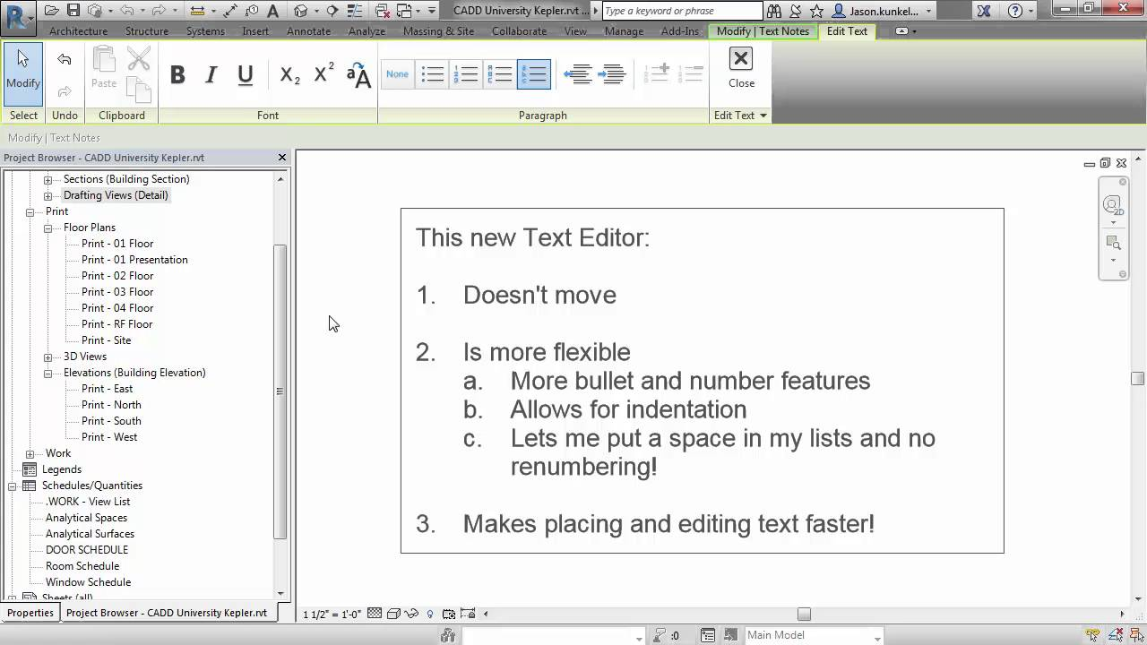 how to change text in tag revit