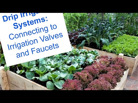 Connecting Drip Systems to Irrigation Valves and Faucets