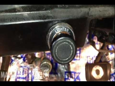 How To Remove Headlight Switch Early Ford Mustang 71 73