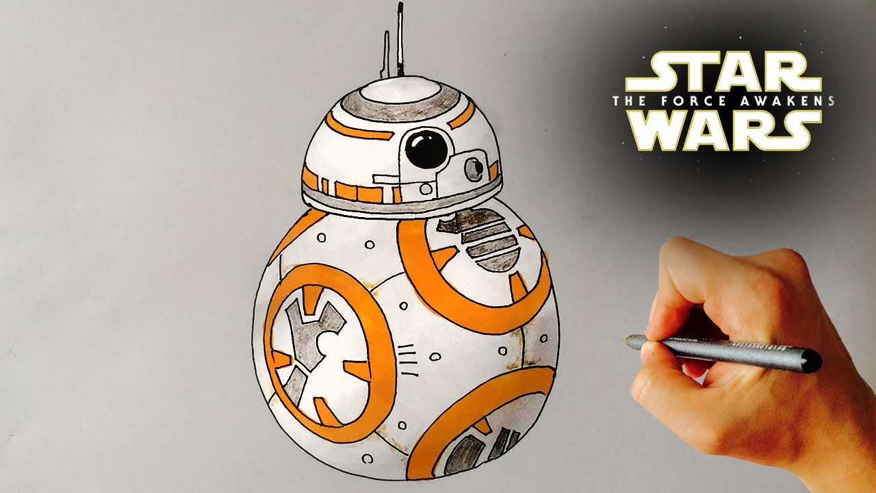 How to Draw the cute BB-8 droid from