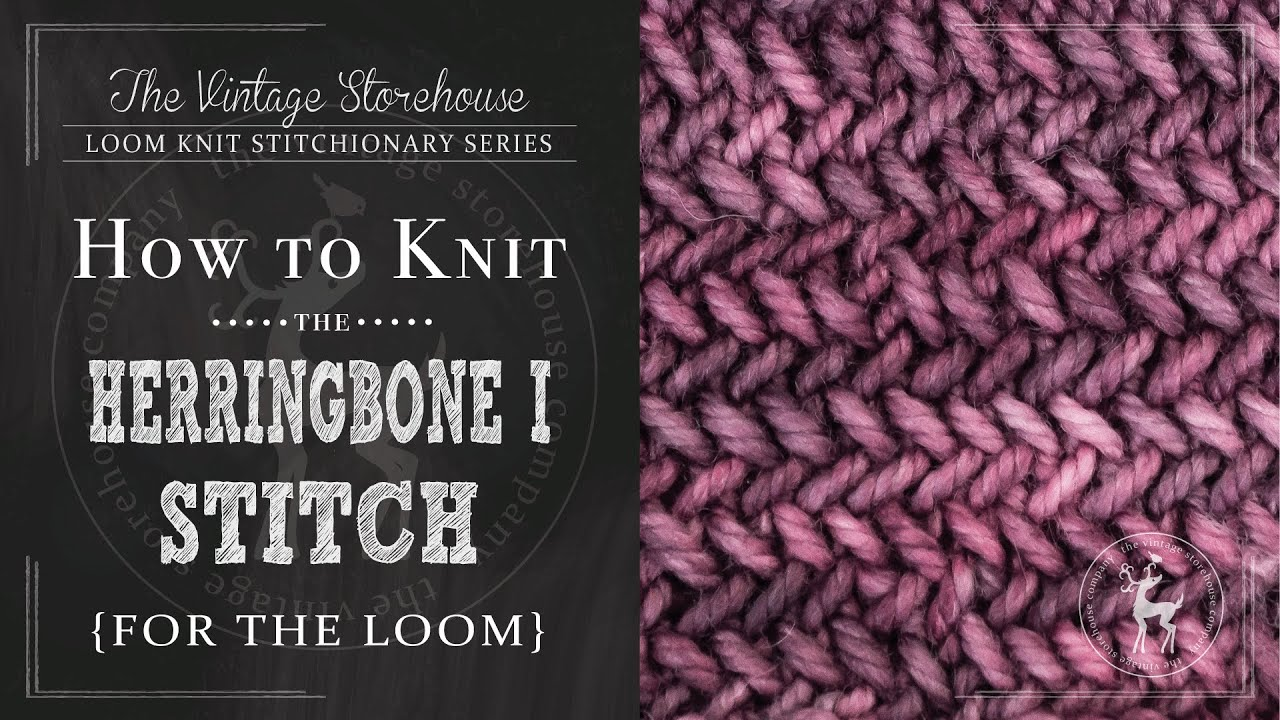 Loom Knitting Stitch Guide 2 : How to Knit the Herringbone I Stitch {For the Loom} - YouTube
