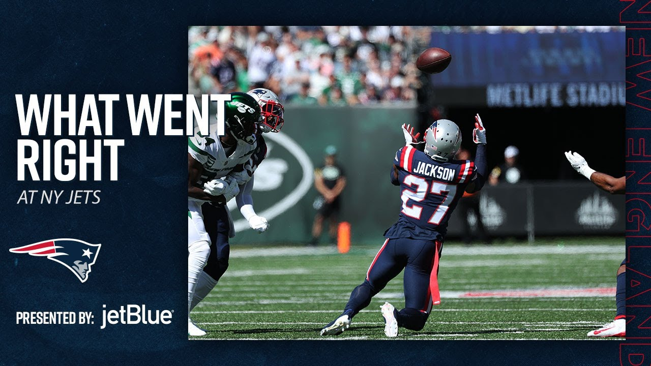 Patriots Bounce Back    What Went Right vs. New York Jets (New England Patriots)