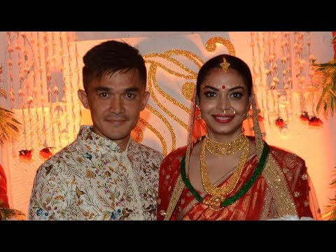 Watch: Have a close look at Sunil Chhetri's wedding | Indian Football Team | Sonam Bhattacharya